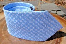 "NR $290 Louis Vuitton MONOGRAM LV Tie LUXE Blue LV Monogram 58"" Skinny"