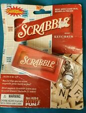 2005 Scrabble Board Game KEYCHAIN Mini Travel Real Game Pieces.