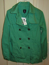 WOMAN'S GREEN GAP OVERCOAT - BRAND NEW W TAGS & SPARE BUTTONS - RETAILS $49.99!