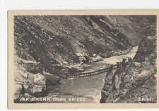 India, Srinagar, Cane Bridge Postcard, A656