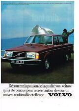 PUBLICITE ADVERTISING 054 1979  VOLVO   244GL