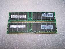 8 go hp authentique PC2700 333MHz 184pin ecc reg ram ddr (2x 4 go modules)