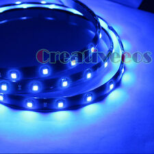 "2x 60CM 24"" SMD 1210 12V CAR Motorcycle FLEXIBLE Decoration LED STRIP LIGHT BLUE"