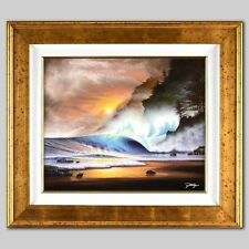 """Misted Magic"" by Jon Rattenbury Framed Original Acrylic Painting on Canvas COA!"