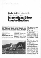 INTERNATIONAL 3500 TRACTOR LOADER BACKHOE UNDER TEST BROCHURE - V2