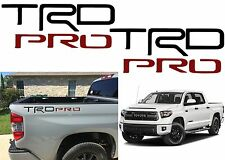 Pair TRD PRO Black & Red Bed Inserts For 2014-2019 Toyota Tundra New Free Ship