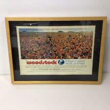 Framed Woodstock Festival 1969 Tour Print Poster #924