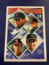 1994 Topps # 369 DAVID BELL, JASON GIAMBI Rookie Prospects GOLD SP Surface Wear