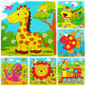 KE_ KQ_ HK- Animals Wooden 9 Pieces Colorful Jigsaw Puzzle Toy Toddler for Kid