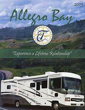 Prospekt brochure USA Tiffin Allegro Bay Motorhome 2003 Reisemobil Wohnmobil