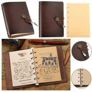 Leather Notebook Journal Handmade Vintage Leather Travel Diary Notepad Book Pad