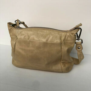Hobo The Original putty beige leather small shoulder grab bag VGC
