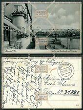 Orig. Foto AK Neuwied Rhein Feldpost Deichcafe Brücke gel. 1941 Karte beschädigt