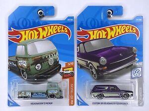 Hot Wheels VOLKSWAGEN PAIR - T2 PICKUP & CUSTOM '69 SQUAREBACk (Read Descrip)