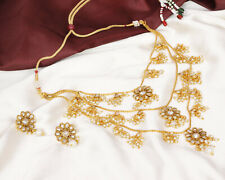 Indian Latest Bollywood Gold Plated Strand Rani Haar Traditional Necklace Set