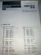Sansui AU-D7,D5 Amplifier Parts List Schematics