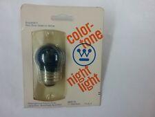 Clear blue 7 &1/2 WATT S11 LIGHT BULB  VINTAGE incandescent  Med. Base round