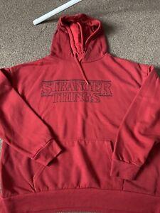 Primark Netflix Stranger Things Red Hoodie Size L