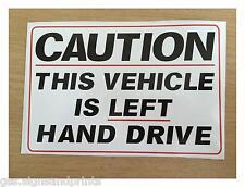 140x90mm main gauche signe Autocollant De Voiture Camper poids lourds voiture américaine