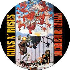 CHAPA/BADGE GUNS N' ROSES . slash axl motley crue hanoi rocks sleazy glam pin