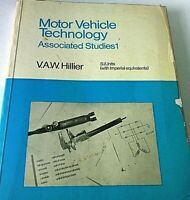 Motor Vehicle Technology Associated Studies 1 Book Hillier Student Auto Course