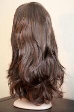 Fashion Long Curly Brown Black Mix Full Wigs Women Hair