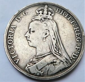 NO RESERVE 1889 Queen Victorian Silver Crown
