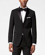 Tommy Hilfiger Modern-fit Flex Stretch Black Tuxedo Suit 41r / 36 X 30