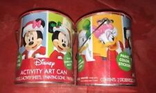 Disney Activity Art Cans Stickers Activity Sheets Paint Set of 2 Mickey New