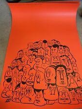 "Barry Mcgee Twist exhibition poster 24""x36"" art obey banksy graffiti Kaws Revok"