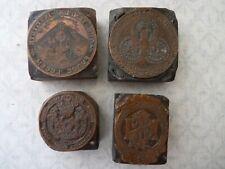 More details for four antique copper printing blacks of masonic interest