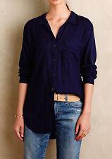 Cloth & Stone Anthropoloige Estes CHAMBRAY Flannel Shirt S $98 NWT  $25 SALE