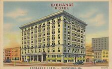 Exchange Hotel in Montgomery AL Postcard 1944