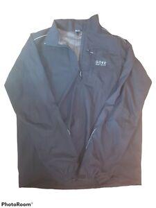 GORE Bike Wear Windstopper Jacket Men's XXL Full Zip Cycling Black Excellent