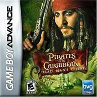 Pirates of the Caribbean Dead Man's Chest Game Boy Advance Game Used
