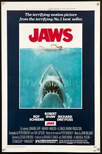 JAWS 1975 US 1 Sheet poster ROLLED NEVER FOLDED! Steven Spielberg FilmArtGallery
