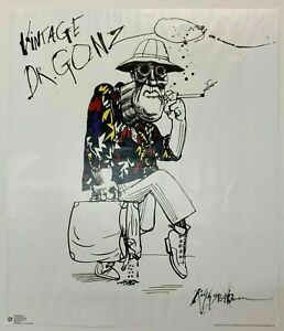 Ralph Steadman Signed Vintage Dr. Gonzo - Free Next Day Secure Delivery ✅
