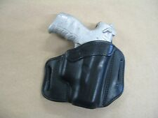 Walther P22 Pistol OWB Leather 2 Slot Molded Pancake Belt Holster CCW BLACK RH