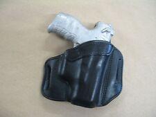 Walther P22 Pistol OWB Leather 2 Slot Molded Pancake Belt Holster CCW BLACK RH