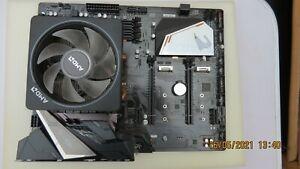 Ryzen 7 2700X 3.7 GHz 8-Core AM4 Processor with Aorus B450 motherboard.