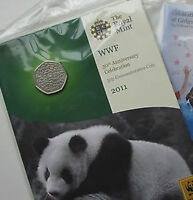 2011 50P COIN RARE WWF WORLD WILDLIFE * BRILLIANTLY UNCIRCULATED * FIFTY PENCE !