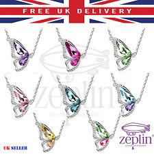 Collar de Mariposa de Cristal para Mujer Joyería Inteligente Estilo Cadena Colgante en forma de