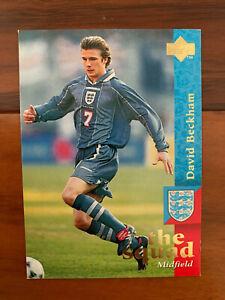 1997 Upper Deck England Soccer Card DAVID BECKHAM TRUE REAL ROOKIE Near Mint 18