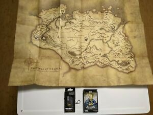 Skyrim paper stock map - includes fallout new vegas preorder cards
