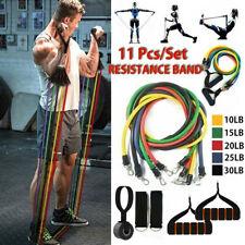 11PCS Men Resistance-Fitness Bands Expander Set Tube Gym Band Yoga Latex Workout