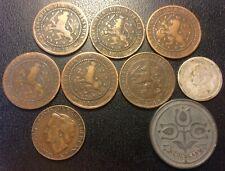 Pays-Bas - Guillaume III - Wilhelmina - lot de x9 monnaies de 1878 à 1948 !