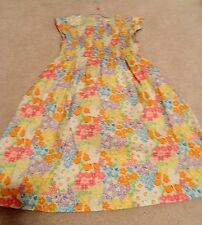 Gymboree Butterfly Blossoms Cotton Smocked Floral Dress For Summer 12 EUC