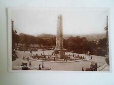 Vintage Real Photo Postcard War Memorial Harrogate Franked+Stamped C1930