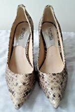NEW Michael Kors Python Print Snakeskin Leather Pumps Shoes 7.5M