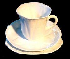 Beautiful Shelley Dainty White Coffee Trio